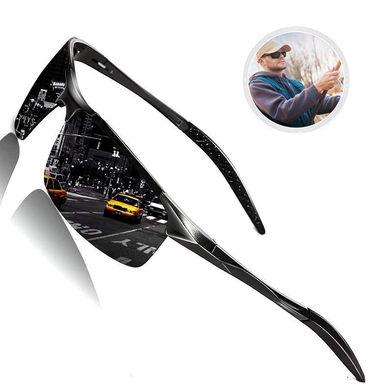 Güneş Gözlüğü Roshari Polarize Erkekler için UV Koruma Golf Sürüş Balıkçılık Bisiklet Güneş Gözlükleri A12