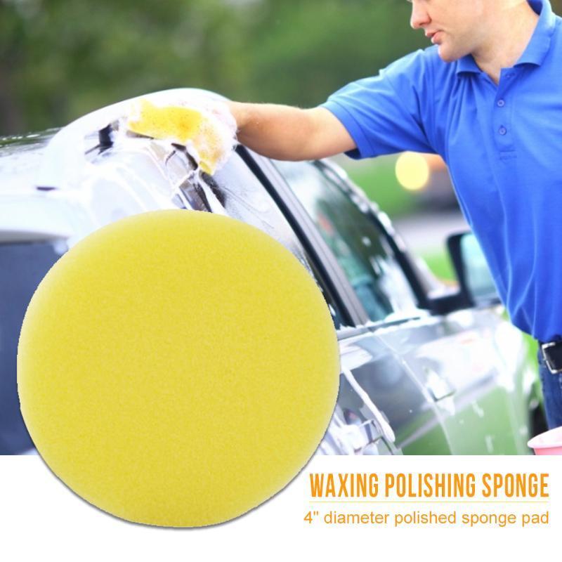 Pousseaux de policière de mousse de 4 pouces d'éponge de voiture pour ponçage de polissage à la cire d'étanchéité Glaze 10pcs Accessoires