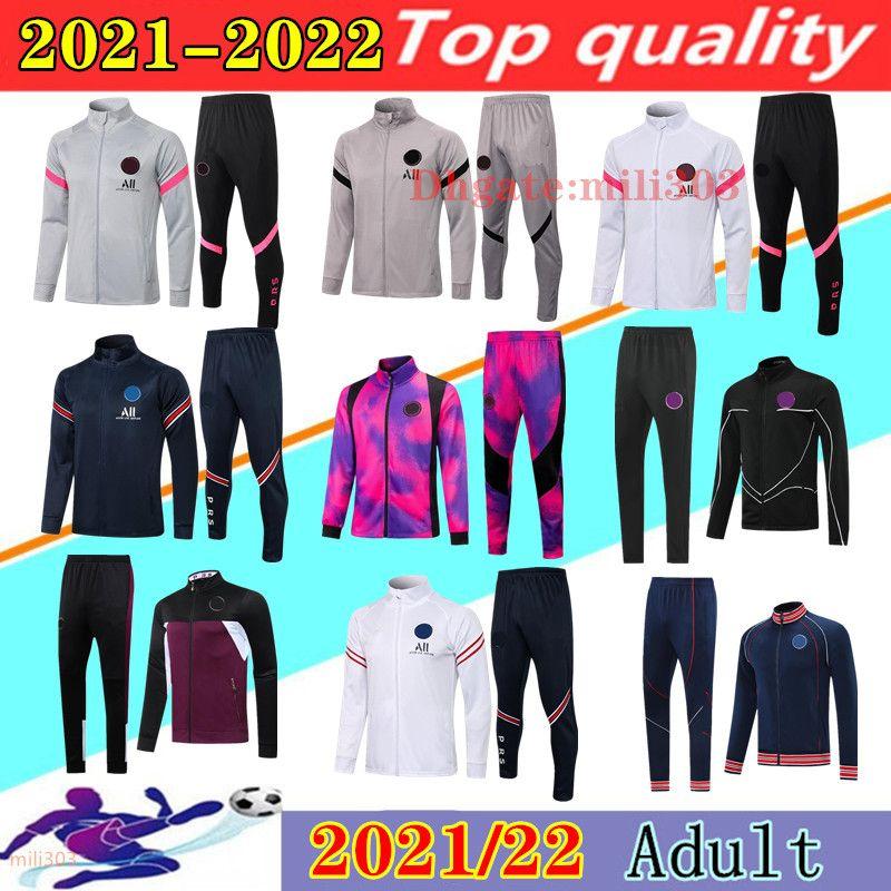 21 22 Paris psg Survêtement de football VESTE ensemble 2021 2022 MBAPPE survêtement kit veste de football survêtement