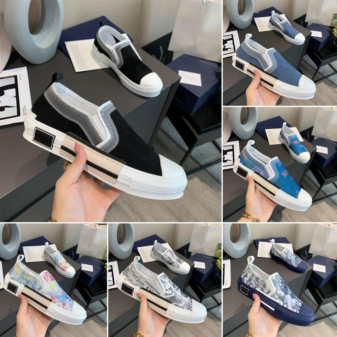 Дизайнерские Обувь Кроссовки B23 Наклонный Низкий Лучший Мужская Кроссовка B24 Технические Холст Кожаные Женщины Повседневная Обувь Высокое Качество Люквирейские Тренеры