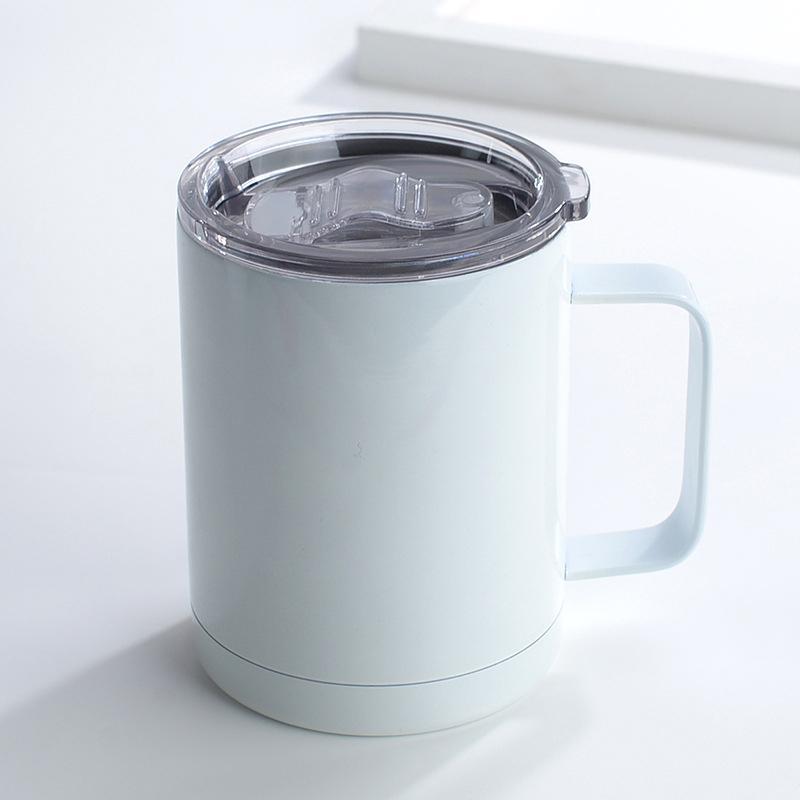Sublimação em branco caneca de aço inoxidável transferência de calor camada dupla camada de vácuo garrafas térmicas de térmicas cabo de alça de água DIY suprimentos de presente