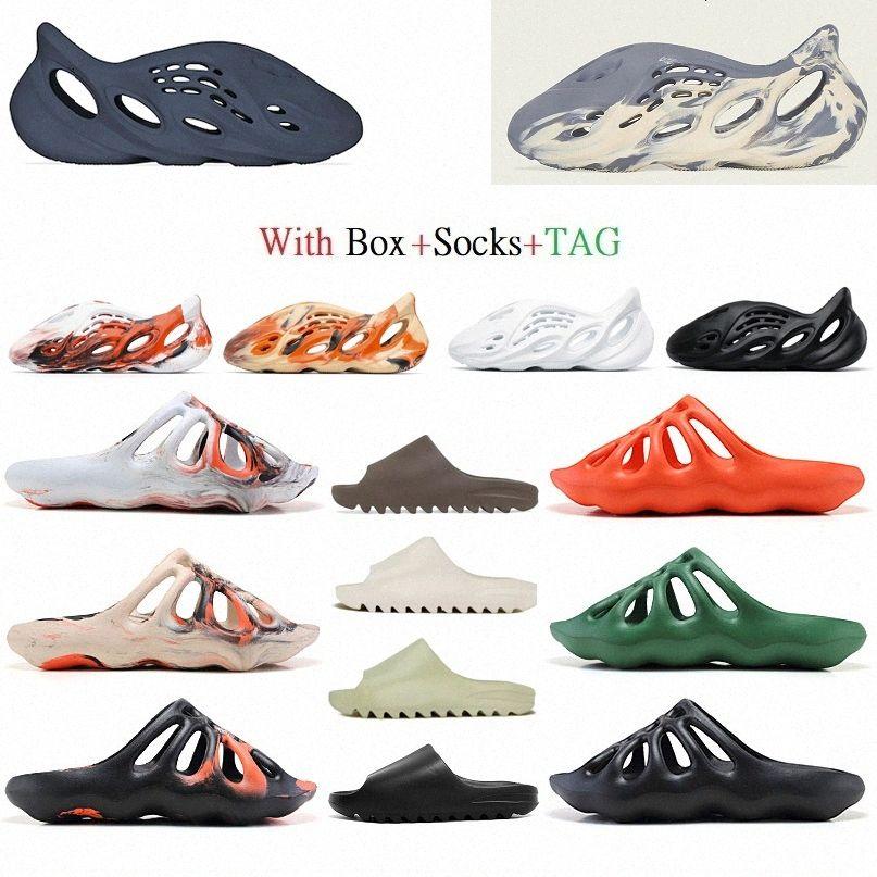 싼 폼 러너 슬리퍼 Hotimationkanye 450 샌들 스트리트 스타일 신발 슬라이드 비슷한 외관 웨스트 여성 쌍 양말 스니커즈 #whi 71xy #
