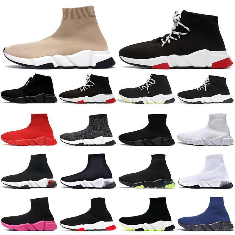 الجملة جوربركضالأحذية في الهواء الطلق الرجال تشغيل الأحذية كتابات ثلاثية أسود أبيض clearsole فولت بيج رجل المرأة منصة عارضة 36-45