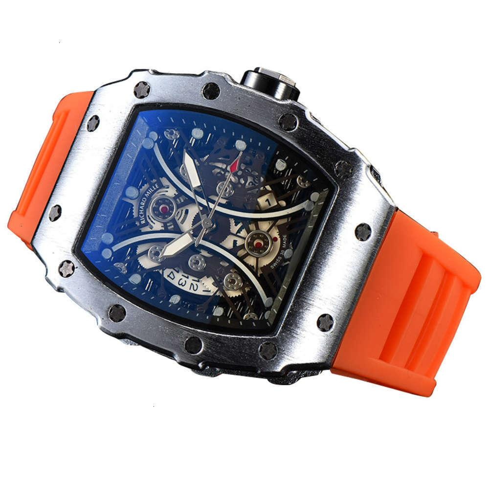 Relógios de pulso Richard Richard Busins Moda Hollow Quartz Watch para homens e womentmm2