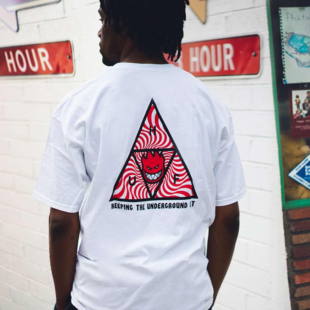 T-shirt da skateboard skateboard skateboard della stella personalità di moda maschile