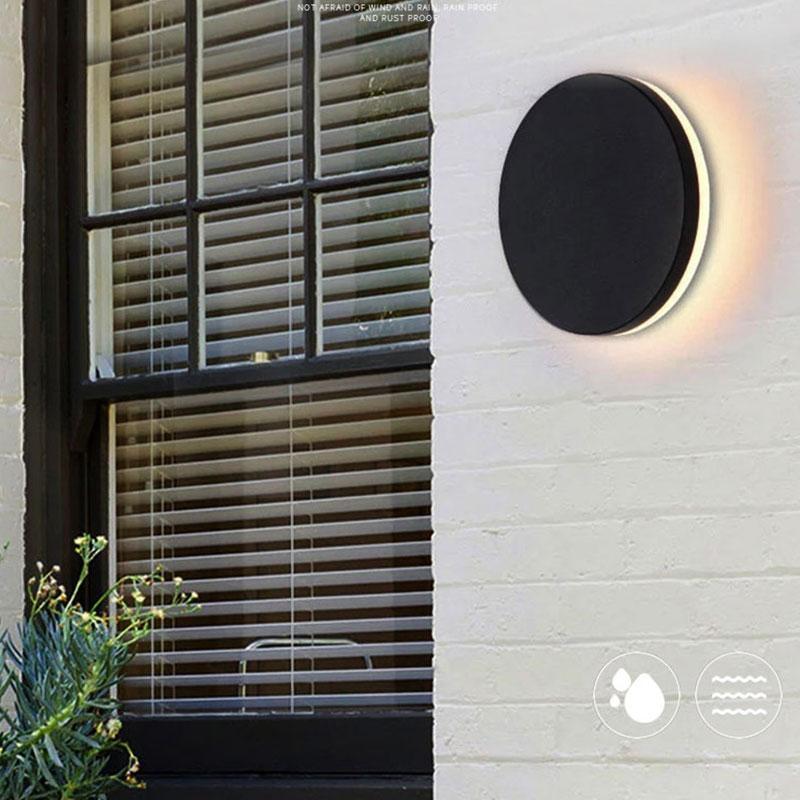 현대 방수 야외 조명 IP54 LED 램프 안뜰 외관 Sconce Walkway Porch 정원 벽 조명 램프