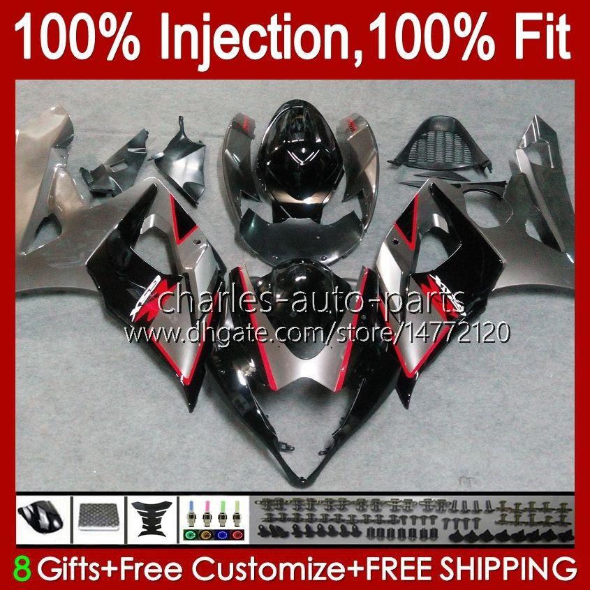 Kropp + Cowl för Suzuki GSXR-1000 GSXR 1000 05 06 Bodywork 11HC.24 GSX-R1000 GSXR1000 05 06 K5 GSX R1000 Hot Sale Blue 2005 2006 Fairing Kit