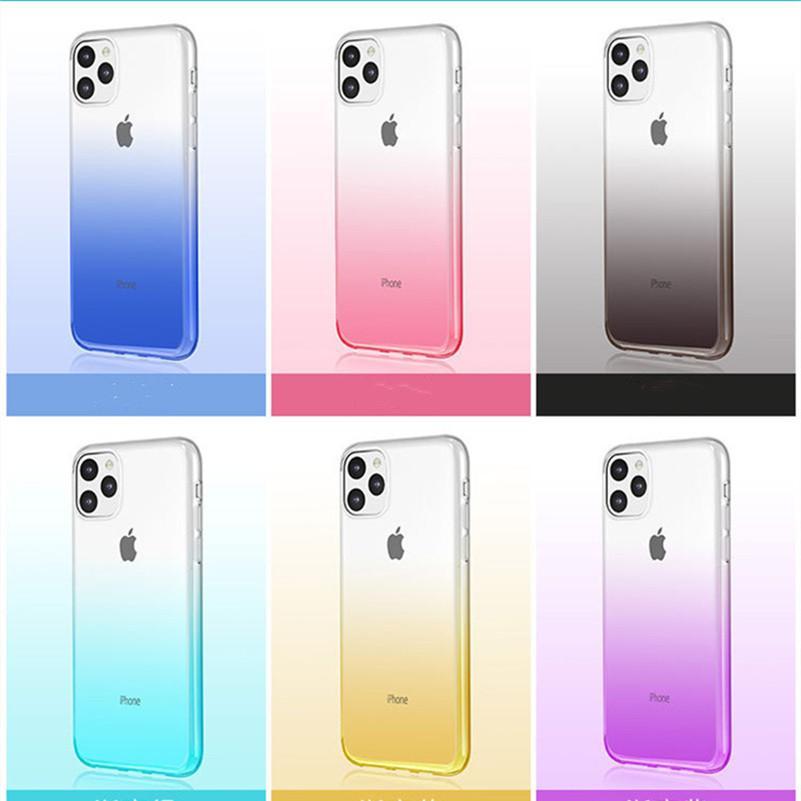 Colori sfumati Anti Shock Airbag Custodia Custodia per iPhone 13 12 Mini 11 Pro Max XS XR 8 7Plus 6S Samsung S21 S20 S10