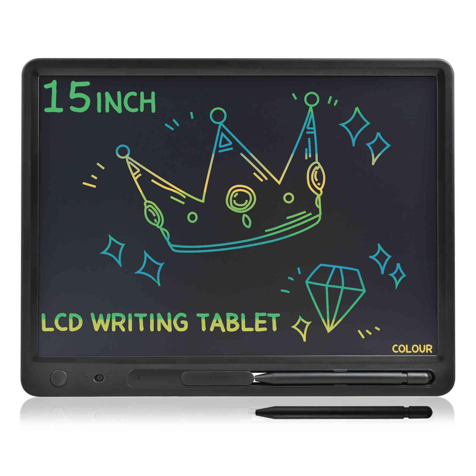 15 pollici grande schermo largo dimensione LCD scrittura tablet tablet imacure pad educazione memo cartellone Adulti notebook Business Bambini disegno giocattoli 210330