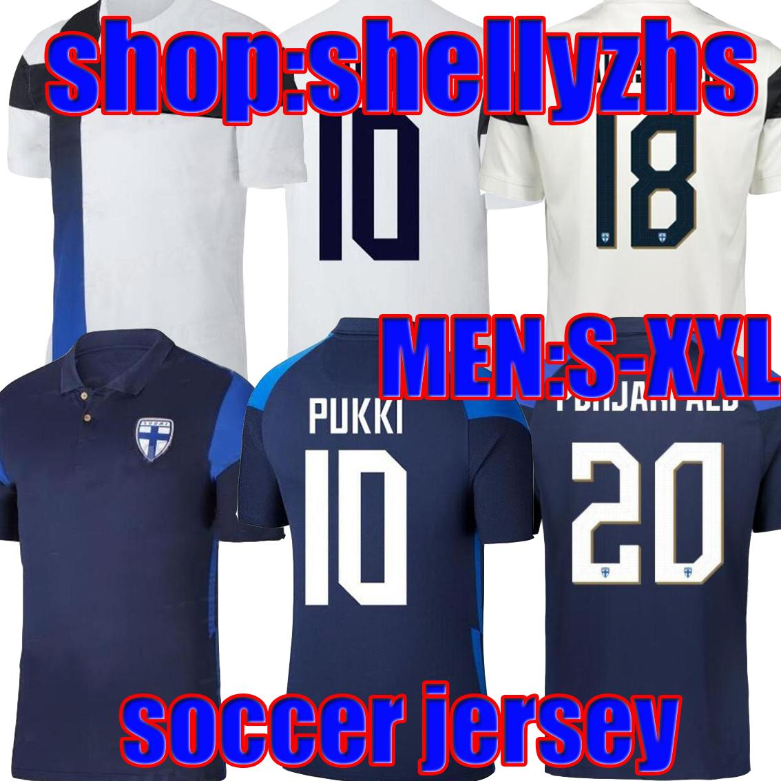 20 21 Finland Soccer Jersey 2021 Hommes Home Home Blanc Pukki Kemppi Engman Hradecky Football Chemises Uniformes