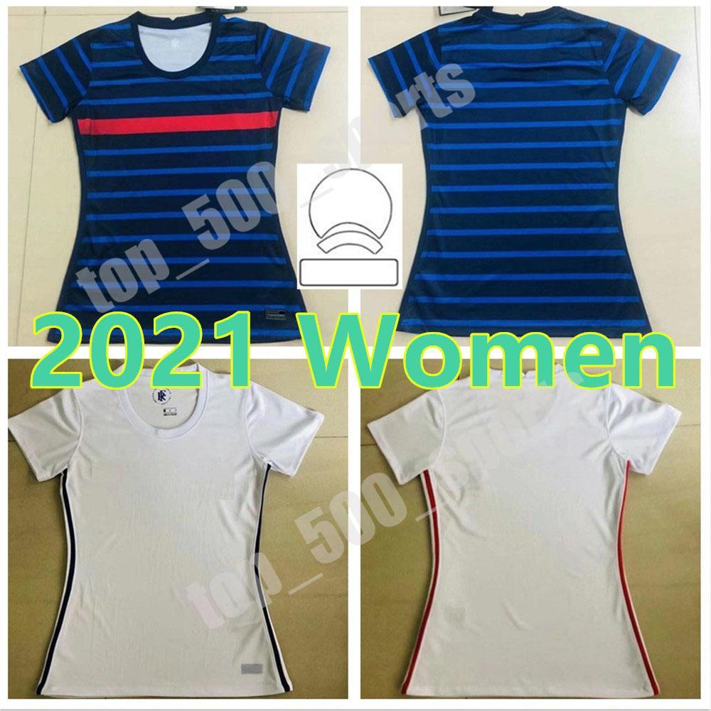 2021 National Team Woman 21 22 프랑스 축구 유니폼 여성 10 MBappe Griezmann Pogba Giroud Zidane Kante Francia 홈 멀리 축구 셔츠