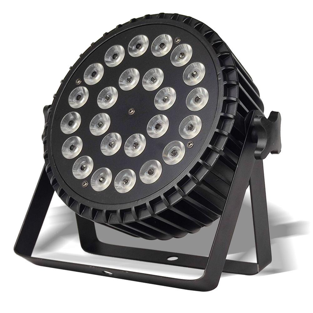 24x18W RGBWA UV LED Par Light 6-in-1 مهنة DMX512 DJ غسل يلقي الإضاءة الألومنيوم المرحلة
