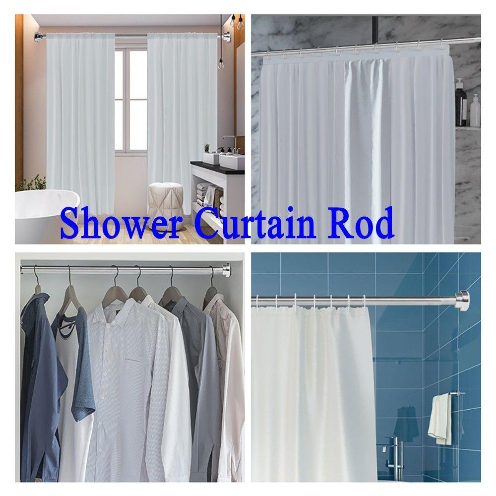 Silber-Edelstahl-Duschvorhangstange 40-73in Rod Bar Hochwertige Badezimmerprodukte für Großhandel HK0004