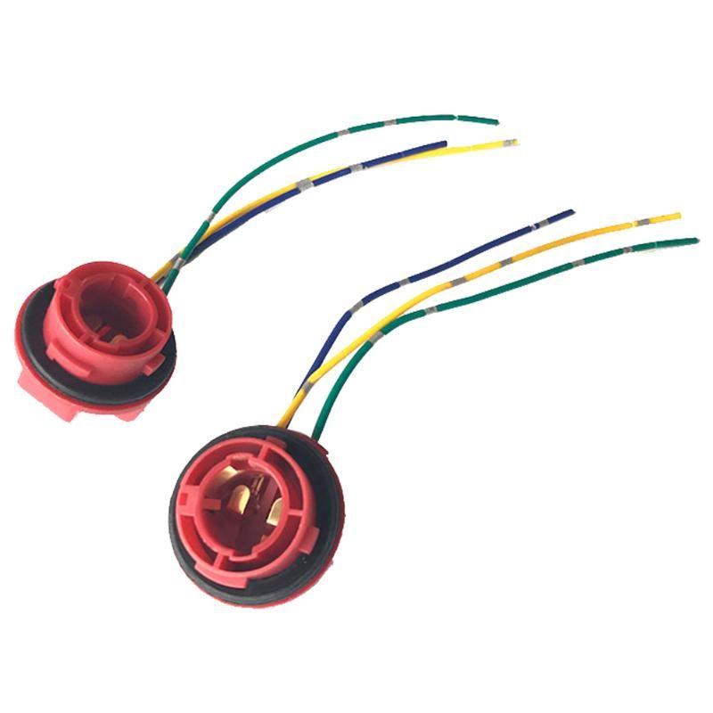 Outros Sistema de Iluminação 1157 Bulbo Socket Bay15D Titular da Lâmpada LED Adaptador de Freio Adaptador Acessórios Automóveis Conector 2 Pcs