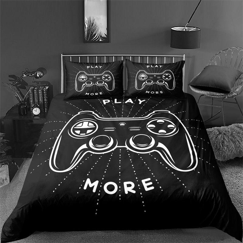 Video Game Bed Sets for Boys Gamer Comforter Gaming Themed Bedroom Decor Game Bedding Set Home Textile 1292 V2