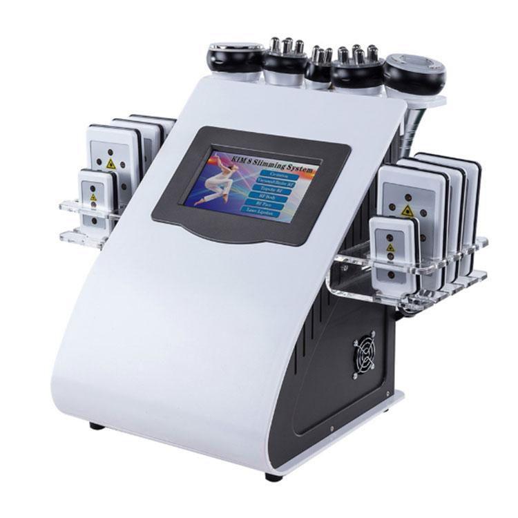 Profissional 6 em 1 diodo laser laser emagrecimento sistema de aperto de pele RF Vácuo ultrassonograma de ultrassonografia de gordura da cavitação da máquina de remoção de celulite