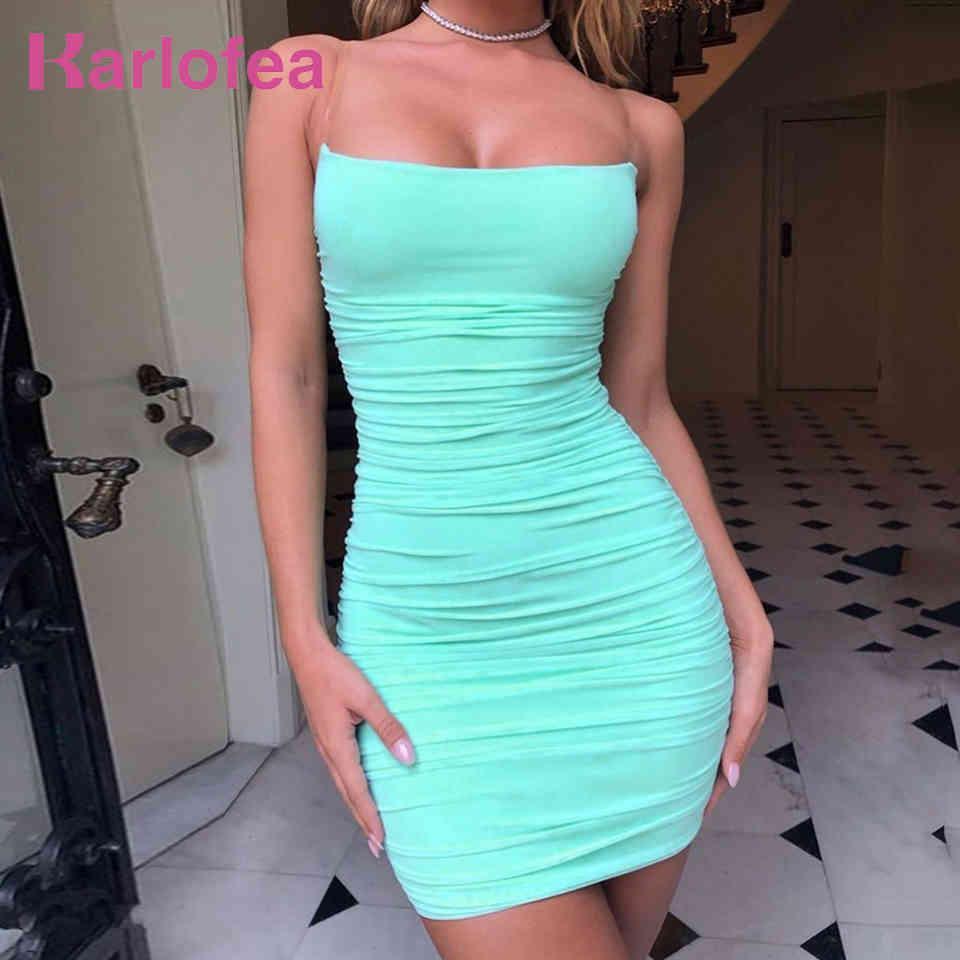 Sommer Mesh Kleid Chic Clear Strap Bodycon Urlaub Outfits Tragen Damen Sexy Club Partei Ruhn Short ES 210512