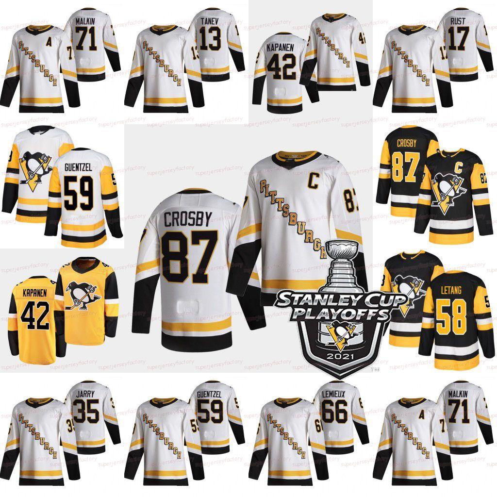 Sidney Crosby Pittsburgh Penguins 2021 Stanley Cup Playoffs Jersey Jake Guentzel Kris Letang Tristan Jarry Evgeni Malkin Kasperi Kapanen Lemieux Ferrugem McCann