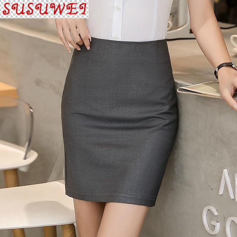 Plus Size Damen Kleidung Professionelle Tasche Hüftrock Weibliche Sommer 2021 Slim Tooling Black Arbeit Schritt Hohe Qualität Röcke