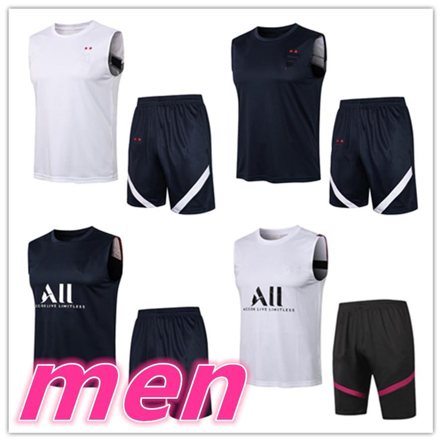 Männer Erwachsene 20 21 Fußballtrainings Trainingsanzug Fußballanzug Kurzweste 3/4 Hosen Kits 2021 2022 Herren Jerseys Trainingsanzüge Jogging Sets
