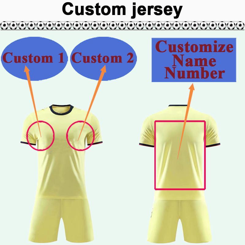 Kit de maillot de football National Club de Team Club personnalisé Vous pouvez personnaliser le nom et le nombre de chemises de football design telles que 29 Nanjing