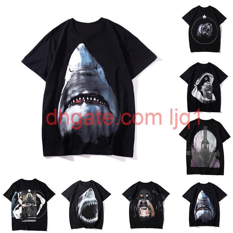 Mens Stampa animale T Shirt Moda Stilista Estate alta qualità Top manica corta S-XXL