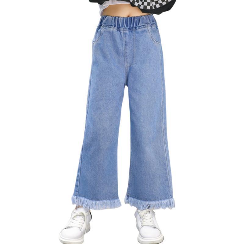 Jeans para niñas Color Sólido Estilo Casual Niños Primavera Otoño Ropa para niños 6 8 10 12 14