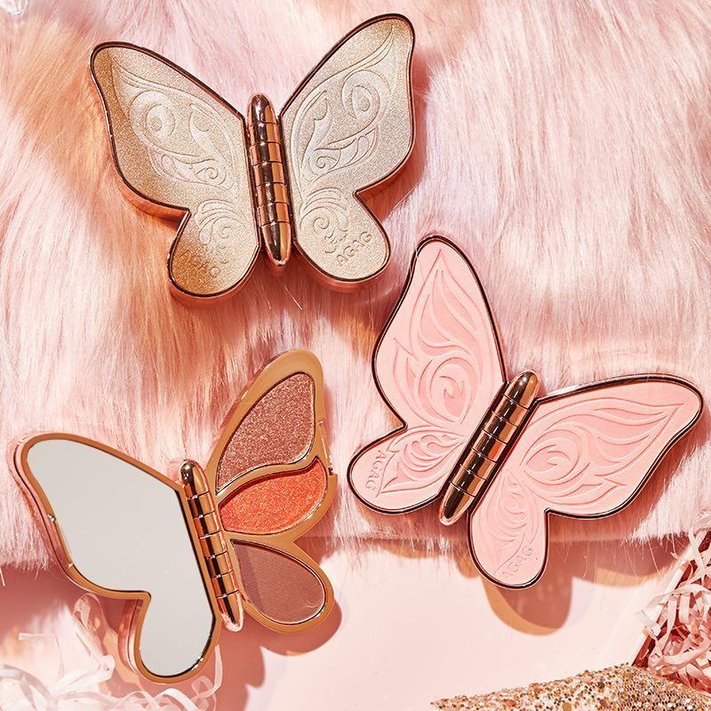 Ombre oculaire 2021 6 couleurs palette à paupières papillon chanceux koi perle paillettes paillettes maquillage mat