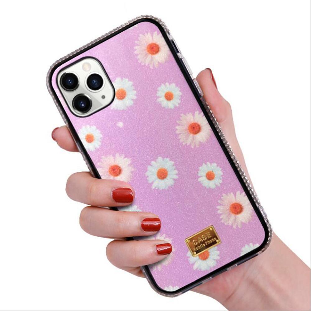 الفاخرة بريق الماس زهرة الحالات الهاتف المحمول لفون 12 مصغرة 11 برو XR XS ماكس 7 8 زائد أزياء سيدة امرأة حالة الهاتف