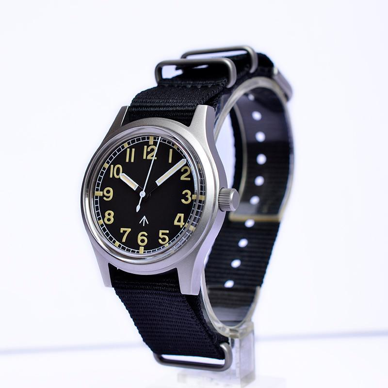 Saatı Boş Arama Küçük İzle NH35 Nato Kayış Kol Saati Reçel Tangal Askeri W10 Vintage Otomatik