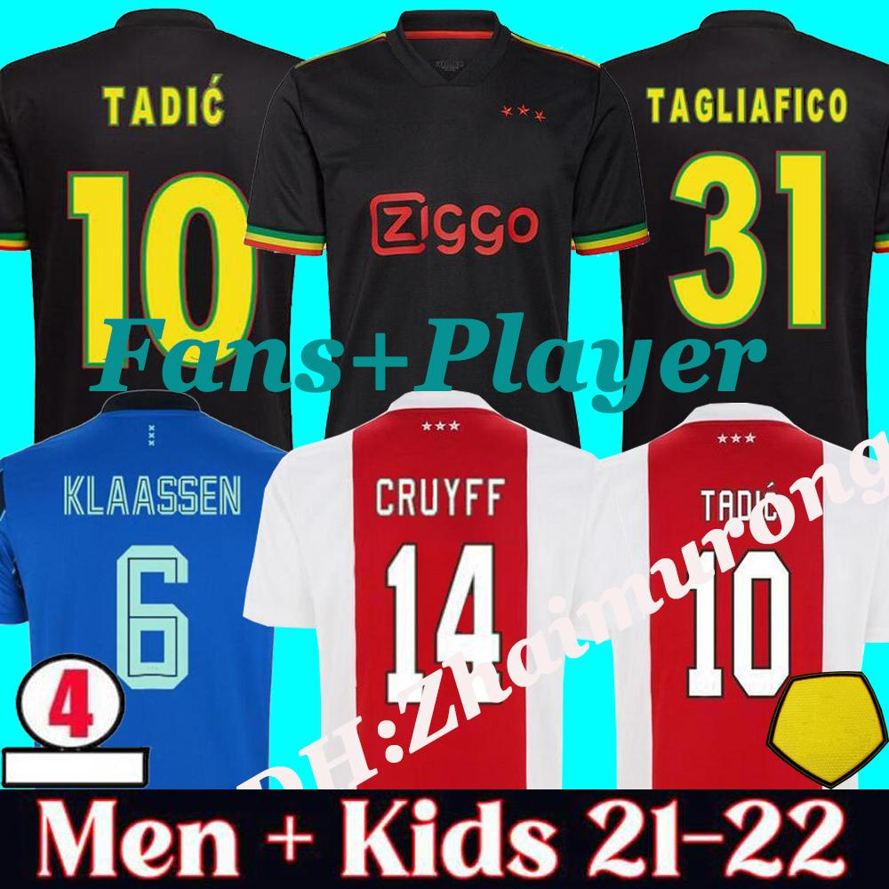 2021/22 FC home away 3rd Fans + Player soccer jersey TADIC PROMES NERES TAGLIAFICO HUNTELAAR CRUYFF 21 22 men kids kit football shirt uniforms Maillot De Foot