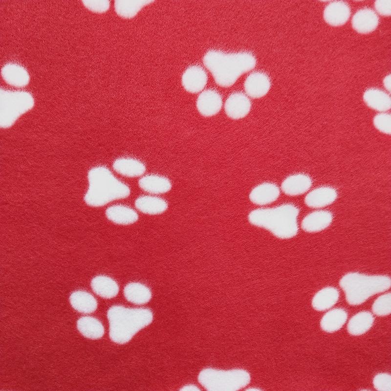 60 * 70 cm Coperta per animali domestici Piccolo PAW Stampa asciugamano Asciugamano Cat Dog Fleece Soft Warmer Bella Coperte Letti Cuscino Cuscino Copertura Coperta per cani 22 colori DBC 433 V2