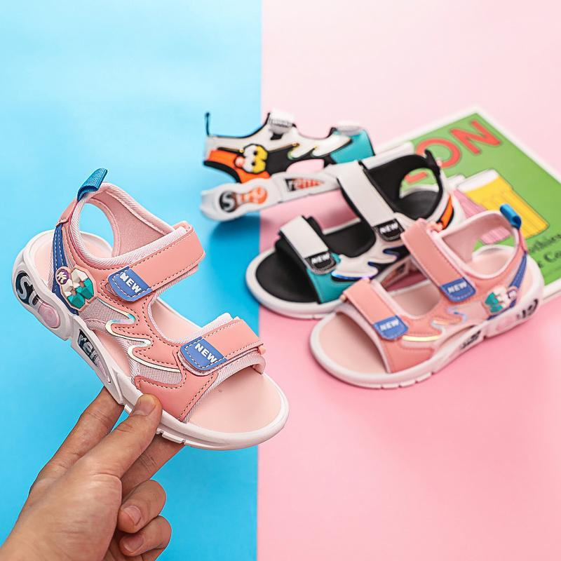 Sandals Summer Girls Children Princess Student Shoes Fashion Casual Soft Sole Lightweight Children's Beach Wholesale