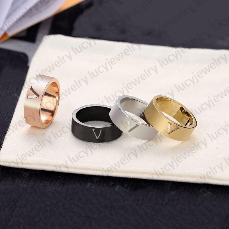 Fashion Ring Band Rings Personality Simplicity for Man Women Jewelry 4 Colors Gifts Temperament Trend Accessories