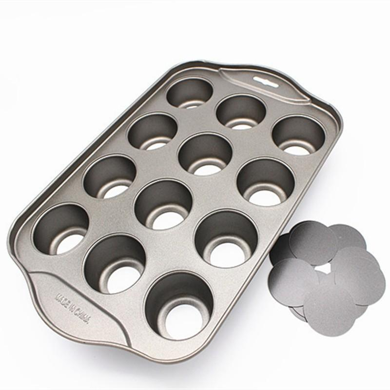 Nonstick Mini Cheesecake Pan, 12 tazza rimovibile in metallo rotondo torta cupcake forno forno forno forma stampo per cuocere strumento di dessert di cuocere 973 R2