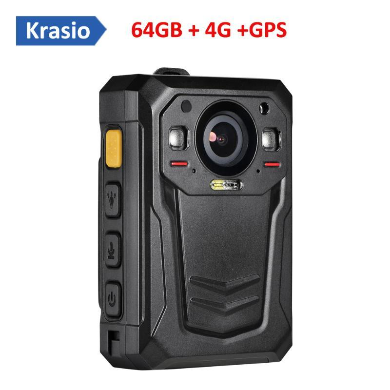 Cámaras de 64 GB de cámara gastada portátil con monitoreo en vivo 4G y seguimiento de GPS
