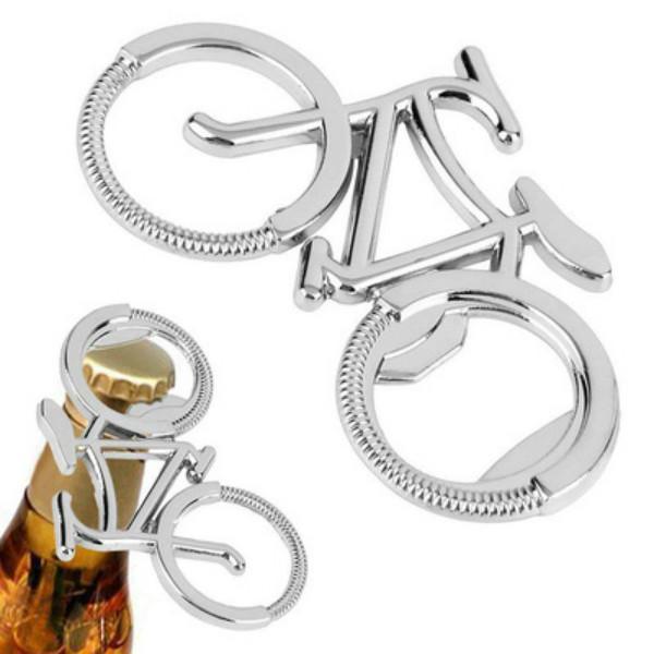 Keychain Opener Geschenkflasche Nette Bier Metallöffner Mode Fahrradform OOD6386