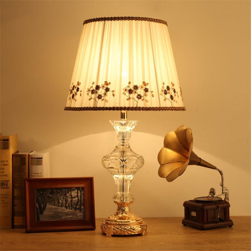 현대 테이블 램프 크리스탈 옆에 LED 책상 빛 럭셔리 장식 홈 로비 침대 룸 사무실 EL 연구 램프