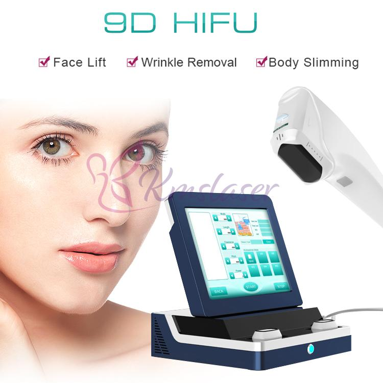 9D Hifu machine with 8 cartridges 20500 shots face and body lifting wrinkle removal skin tightening slimming beauty equipment