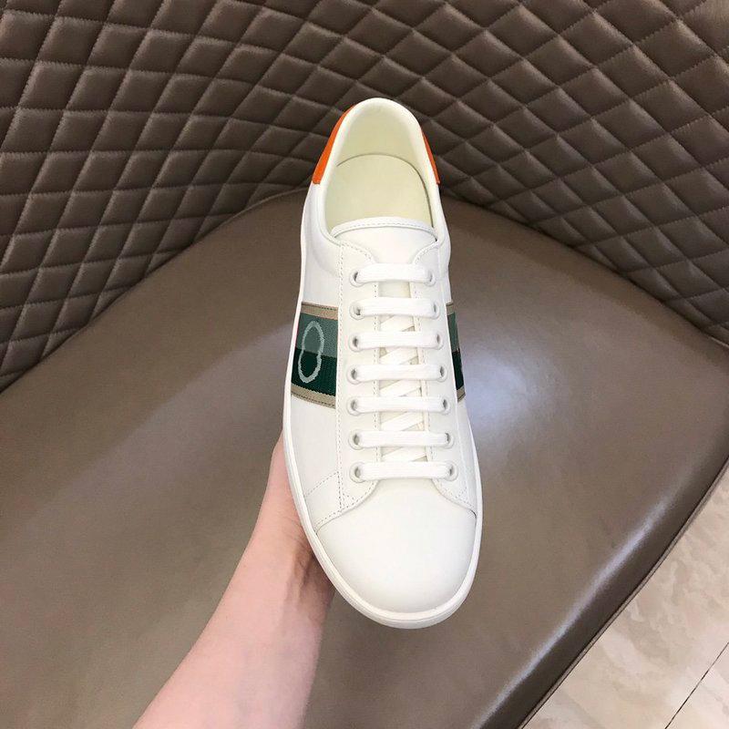 Designer classici reali in pelle casual casual scarpa bianca uomo di alta qualità mens sneakers mocassini pizzo su scarpe moda donne con scatola taglia 35-46