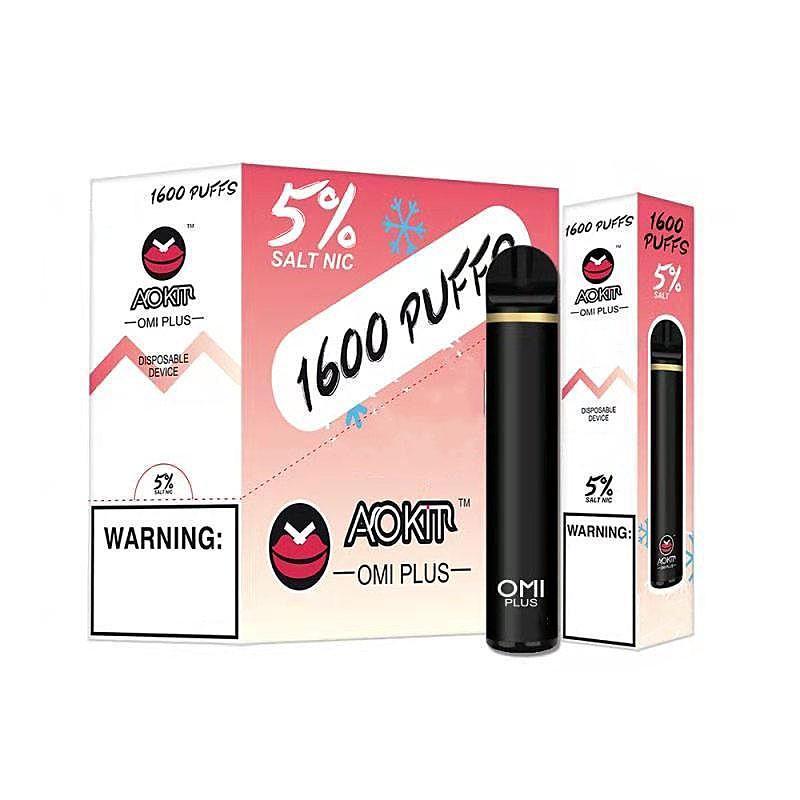 AOKIT OMI PLUS Sigaretta Monouso Dispositivo POD VAPE PEN DAP KIT 5.3ML 1600 sbuffi 800mAh