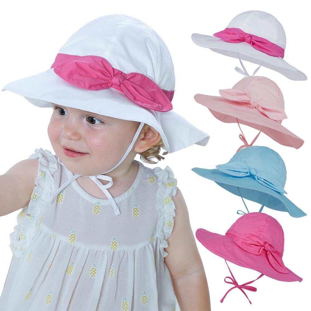 Misturar 12 cores Baby balde chapéu crianças meninas meninos verão bonito Floral impresso de algodão ajuste de algodão arco tampas largo breim chapéus boné kids boutique acessórios