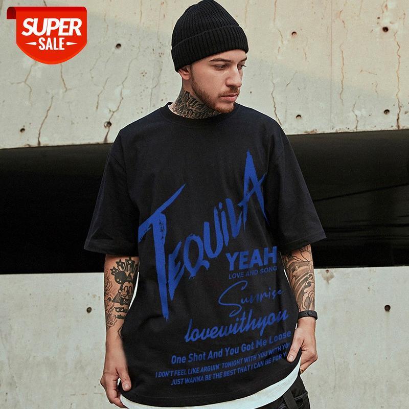 반팔 남성 여름 느슨한 유럽과 미국의 티셔츠 조류 브랜드 트렌드 ins 홍콩 스타일 커플 하프 슬리브 대형 COM # p531