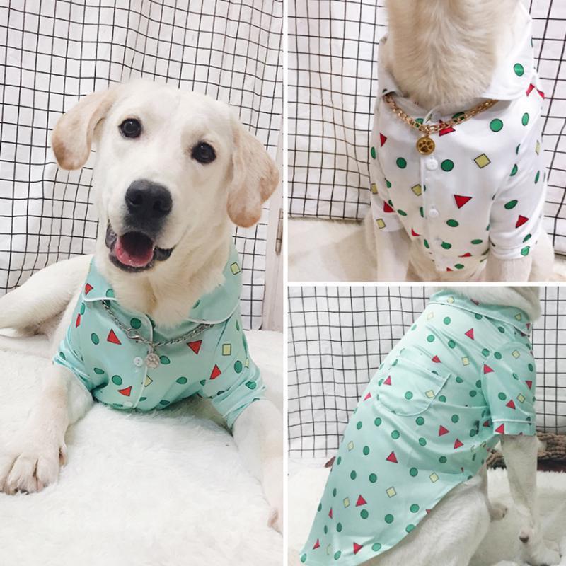 Ropa de perro grande y otoño pijamas Pijamas Casual Ropa Casual Labrador Samoyedo Golden Retriever Pet Shirt Chaqueta Ropa