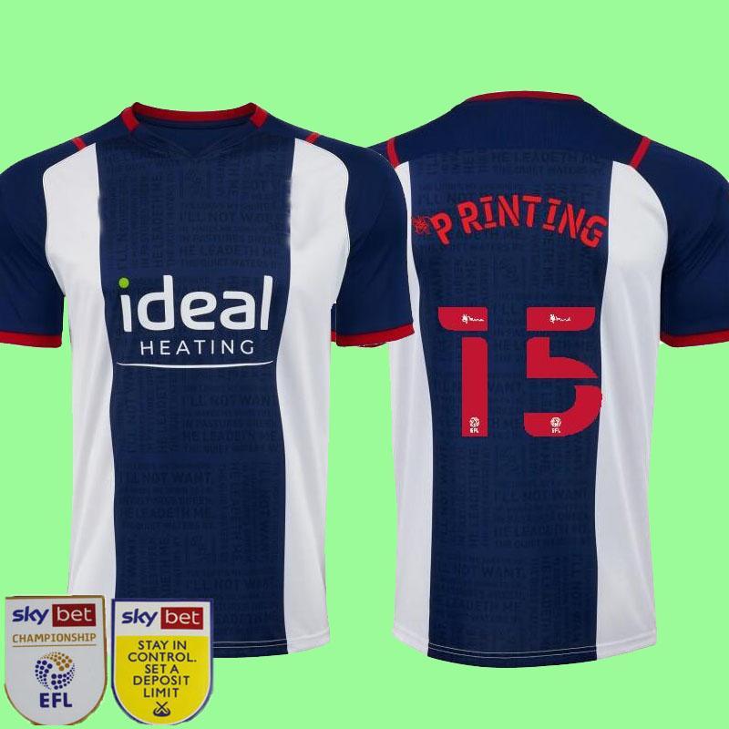 21 22 غرب لكرة القدم الفانيلة Livermore Diang Brunt Bromwich Albion Home Away 3rd 2021 2022 الرجال والاطفال قميص كرة القدم