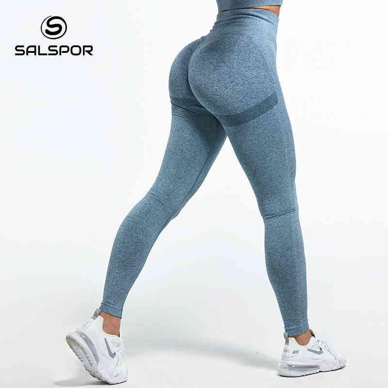SALSPor Frauen Hohe Taille Für Damen Sexy Bubble Butt Gym Sport Trainingsgamaschen Push Up Fitness Weibliche Leggins