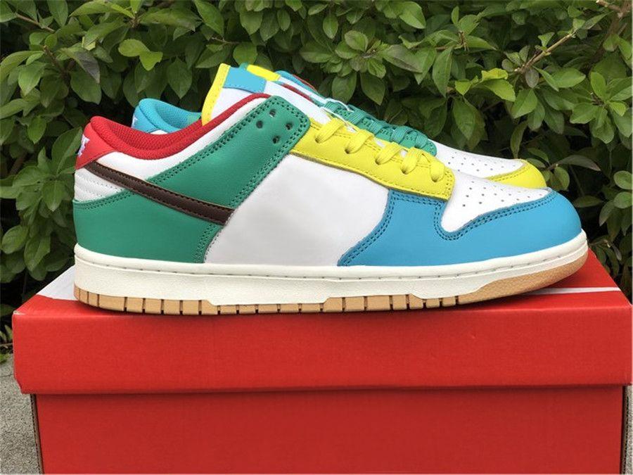 أصيلة dunk se مجانية 99 أحذية منخفضة في الهواء الطلق الرجال ترافيس سكوت الضوء الأبيض الشوكولاته روما الأخضر الأسود الداكن كوبا الوردي رغوة أحذية مع المربع الأصلي