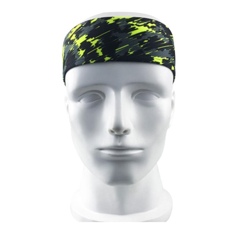 남성 여성 신축성 머리띠 통기성 조정 가능한 빠른 건조 폴리 에스터 땀 흡수 편안한 피트니스 헤어 랩 요가 스포츠 땀띠