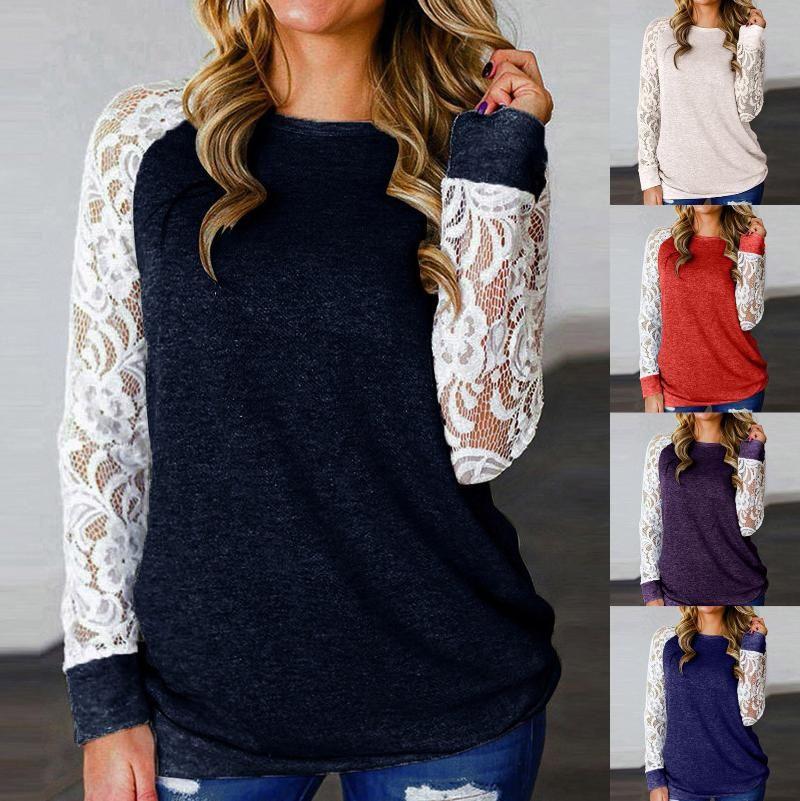 Women Blouse Long Sleeve Pullover Shirt Casual O-neck Printed Plus Size Tops Swearshirts Sudaderas Drop Fashion Top Women's Hoodies & Sweats