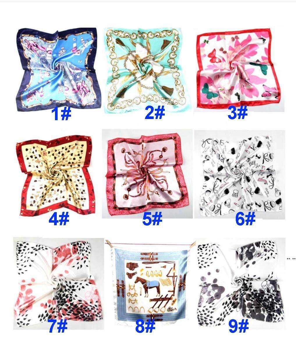 Verano otoño e invierno bufandas pañuelo hembra imitación wersatile profesional pequeño cuadrado seda bufanda HWD5925